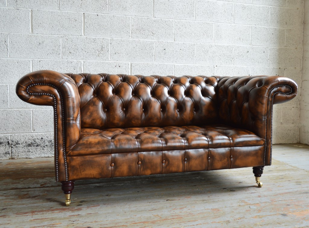 Trendy handmade deep buttoned antique gold 1857 leather chesterfield sofa ouezpmt