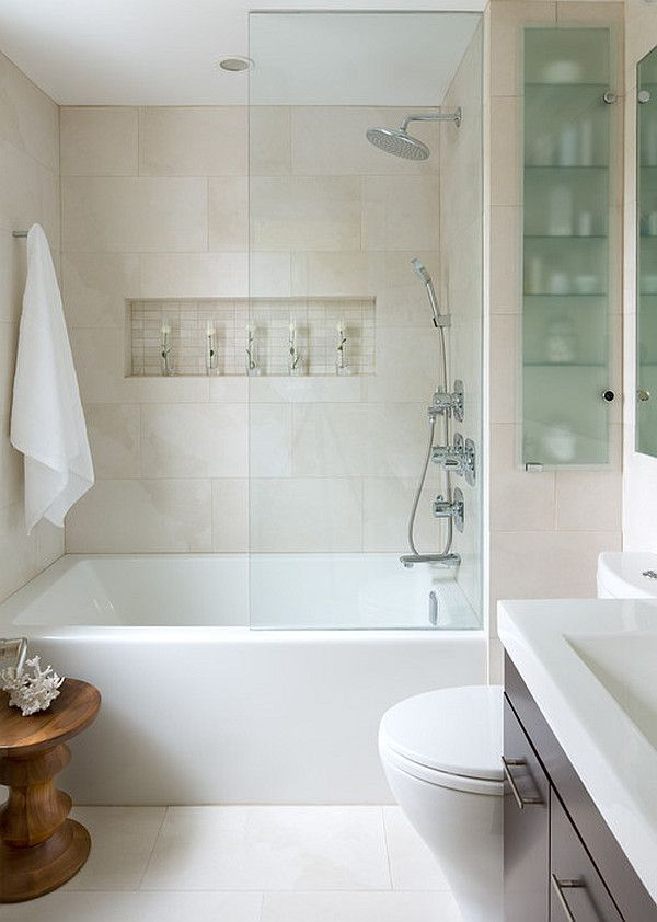 Contemporary small bathroom remodel ideas
