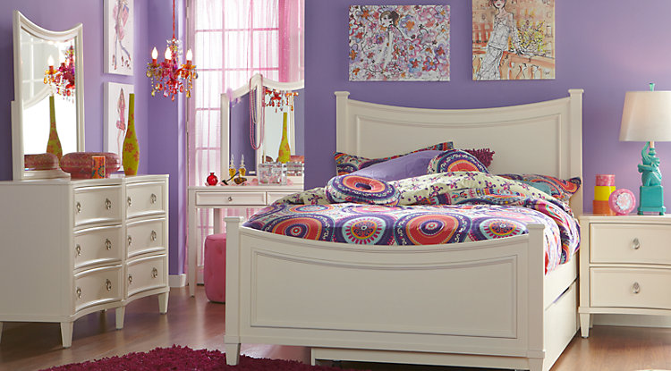 Unique full size bedroom sets jaclyn place ivory 5 pc full panel bedroom keajfmh