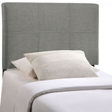 Unique twin headboards modway mod-5152-gry oliver twin fabric headboard in gray wvqorph