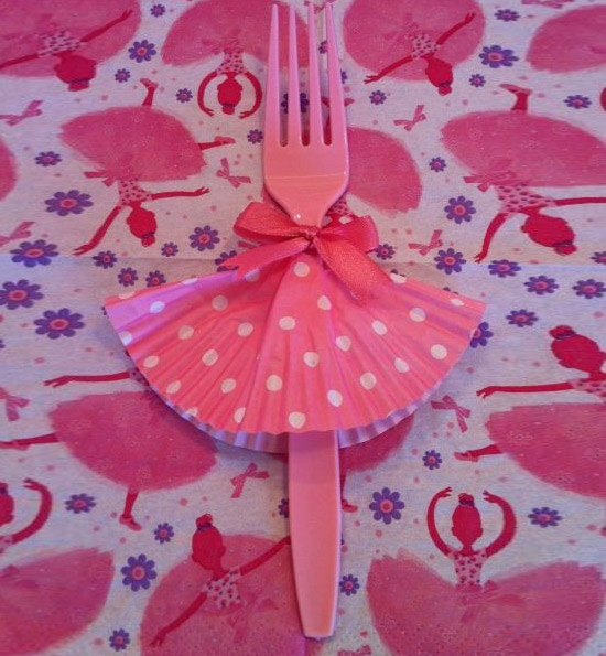 baby shower decorations for girl ... cute ballet dancer fork | click pic for 35 diy baby shower ehytcoa