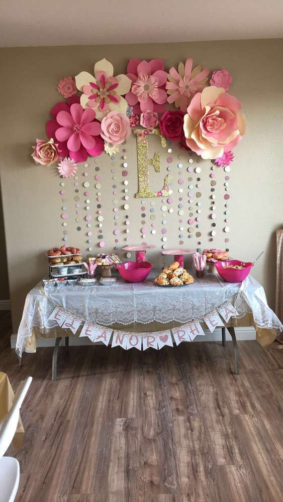 baby shower decorations for girl pink and gold baby shower party ideas fjeilvn
