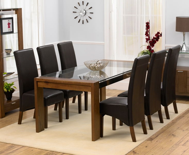 beautiful walnut dining table and 6 chairs 2.jpg chair full version ... powqevg