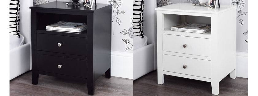 black and white bedside table 2 drawer bedside table jlixupo