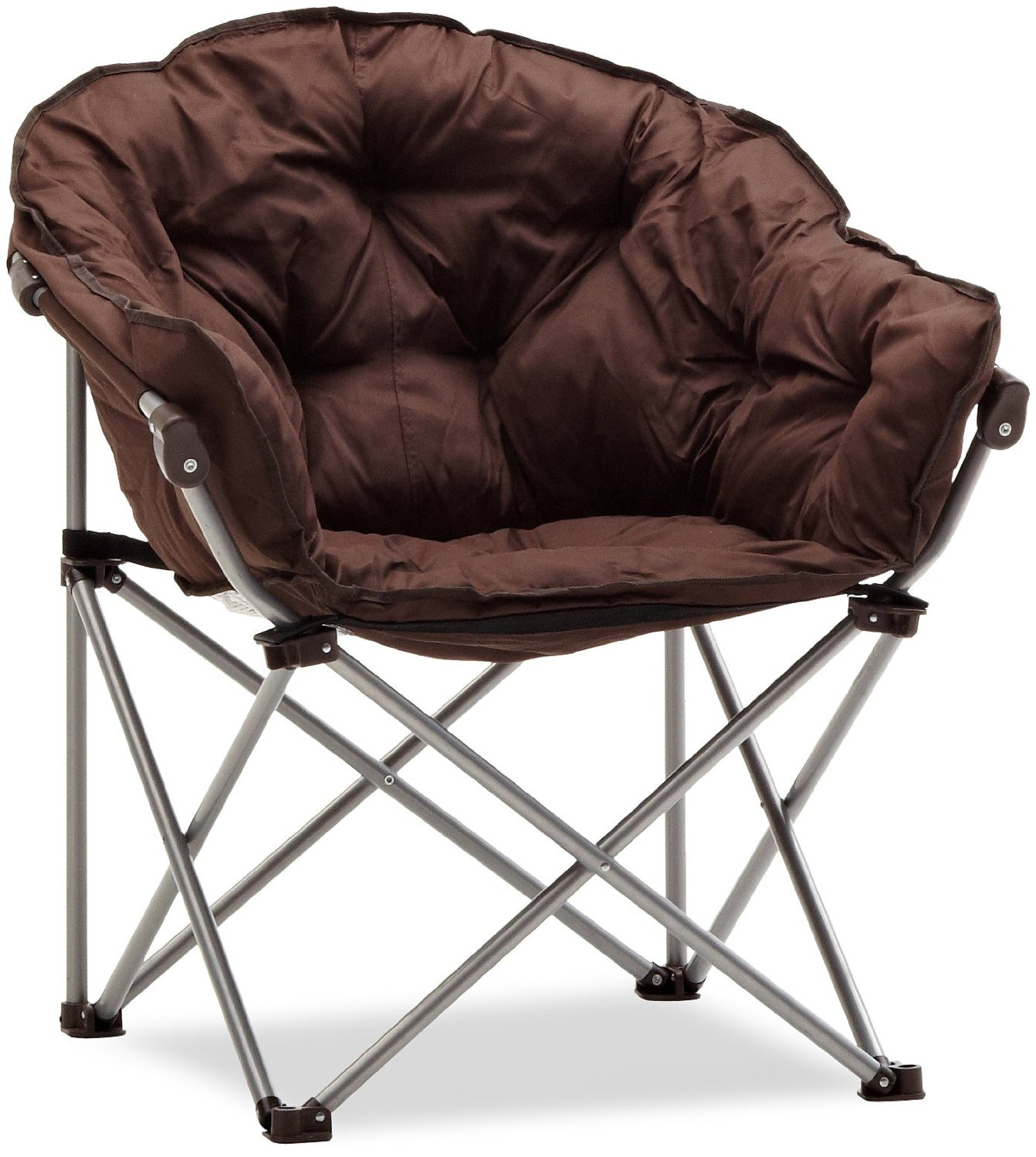 brown comfortable folding chairs with stainless steel material for unique  furniture design ydmqinp