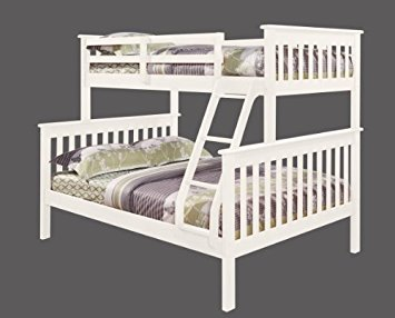 bunk beds twin over full twin over full mission bunk bed in white dnegysx