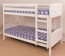 bunk beds with mattresses 3ft single, 2ft6 shorty white, antique, natural pine bunk bed + mattress ykvqmsb