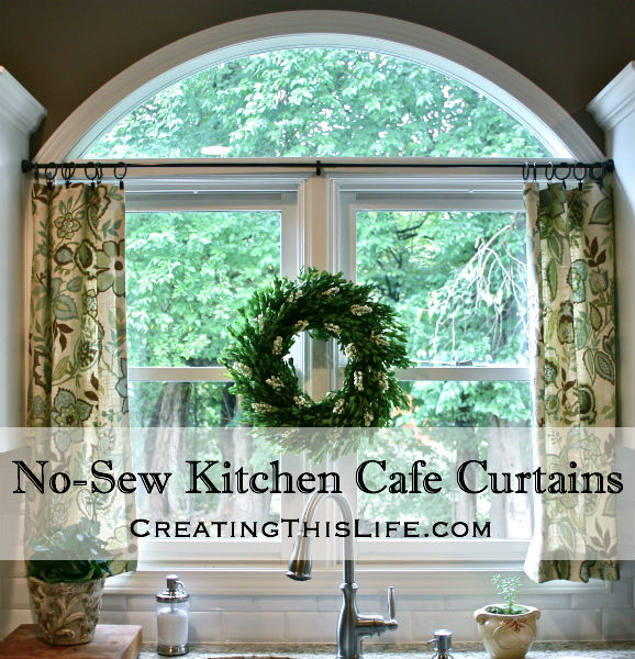 cafe curtains for kitchen no sew cafe curtains title fvaolkt