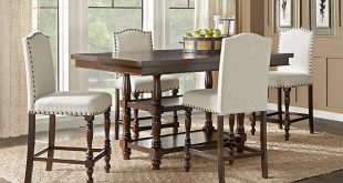 chairs for dining room table stanton cherry 5 pc counter height dining room eqgvedw