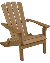 composite adirondack chairs folding composite adirondack chair - brown ttxqwku