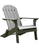 composite adirondack chairs stonegate designs composite maintenance-free foldable adirondack chair -  gray bwflzoo