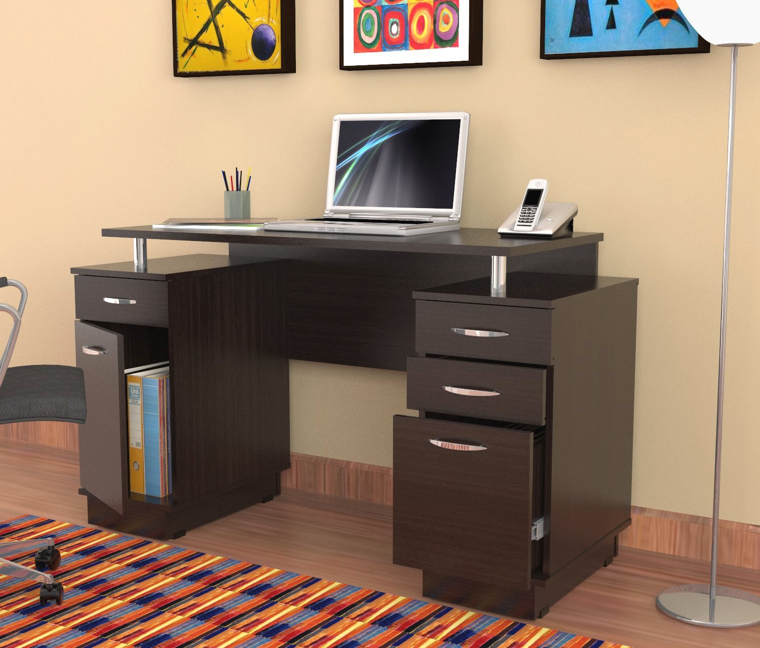 computer desk with drawers furniture. black desk with drawers for magnificent home office interior. nu  decoration tklxovn