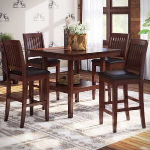 counter height dining table chippewa 5 piece counter height dining set wkgrkre