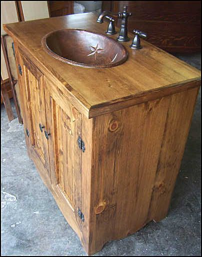 country bathroom vanities southwestern bathroom | ... photo of side view country bathroom vanity  stained uvvmwqb