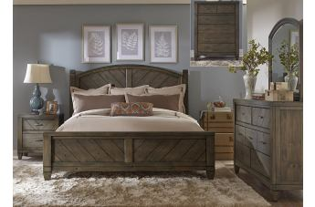 country bedroom furniture liberty 4-piece modern country poster bedroom set in harvest brown uldzbhw
