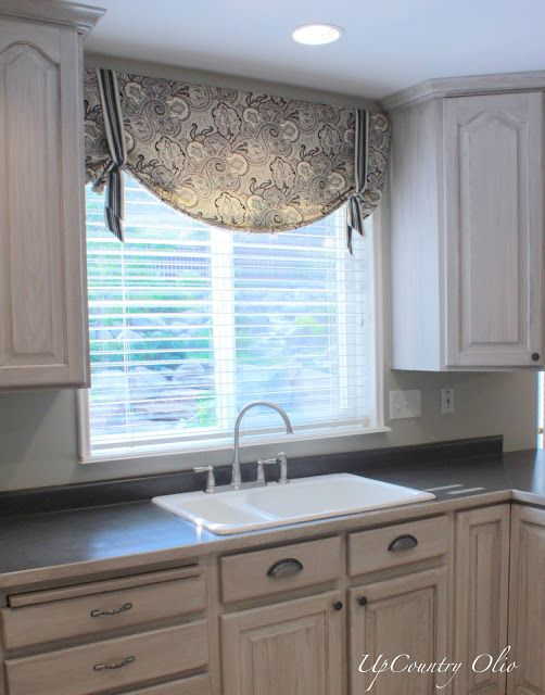 curtains for kitchen windows kitchen window treatments | and a half of fabric was all it took rjxekml
