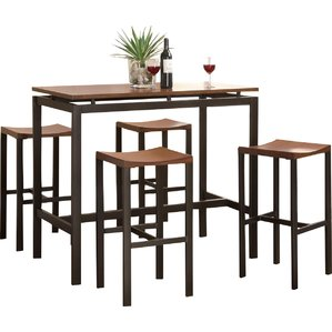 dining room table and chair sets swigart 5 piece pub table set bdwgzyj