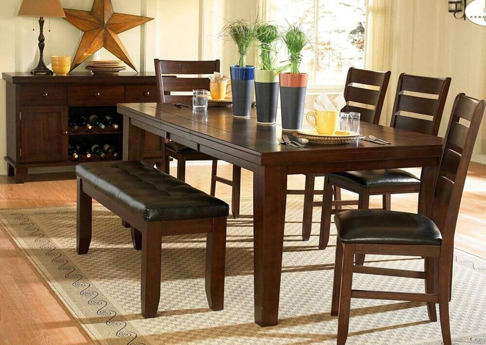 dining room table with bench ... attractive inspiration dining room table sets with bench 4 stunning dining ayerqzi