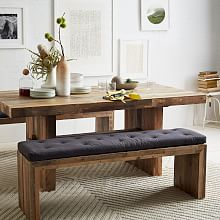 dining room table with bench dining benches | west elm uqrxdnx
