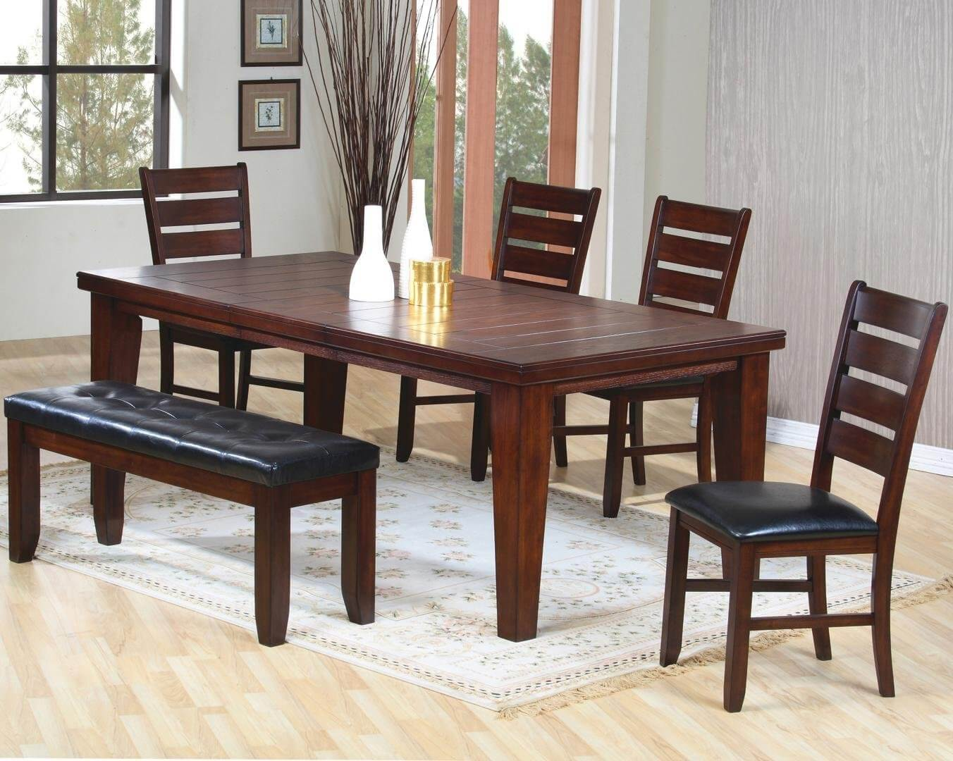 dining room table with bench ... stylish idea black dining room set with bench 15 26 big small shqouru