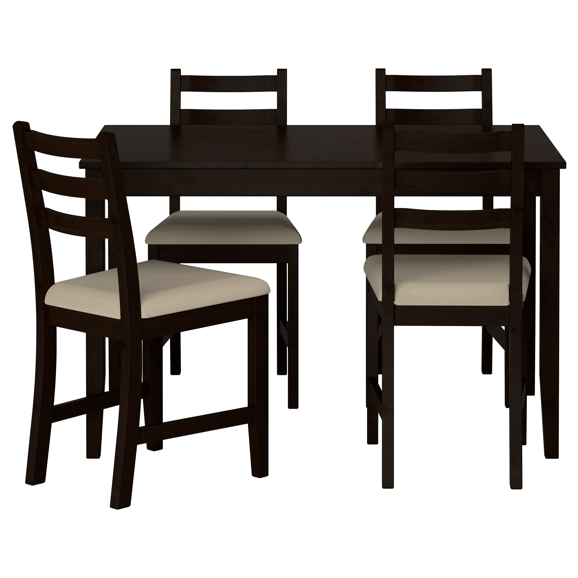 dining table and 4 chairs lerhamn table and 4 chairs - ikea etfhwzh