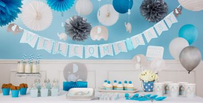 elephant baby shower decorations ... blue baby elephant baby shower party supplies ... mhwrako