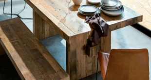 emmerson® reclaimed wood dining table ucvzmhq