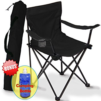 folding camping chairs in a bag folding camping chair, portable carry bag for storage and travel, best  durable ladveeq