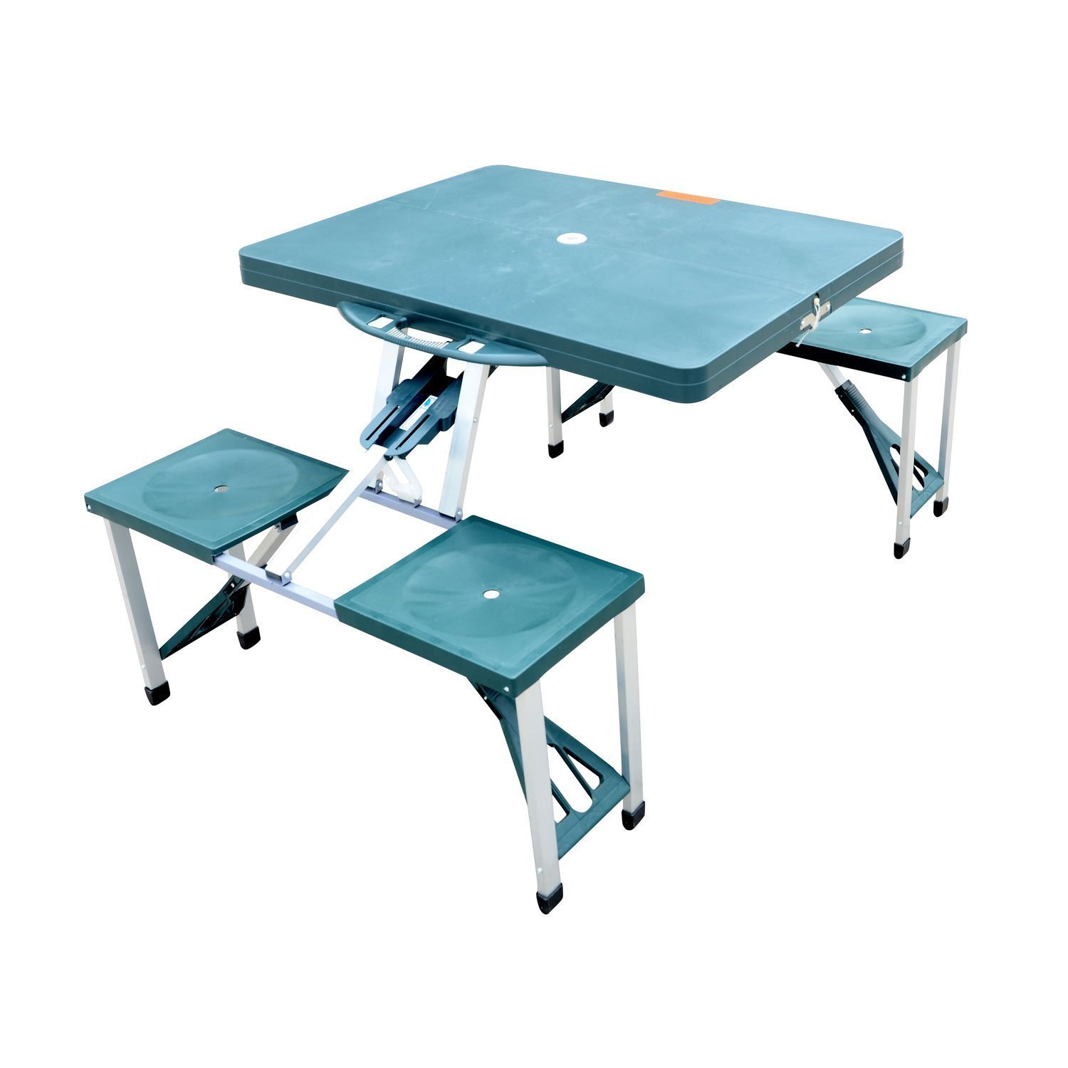 folding camping table and chairs amazon.com : outsunny portable folding outdoor camp suitcase picnic table  with 4 ercxhum