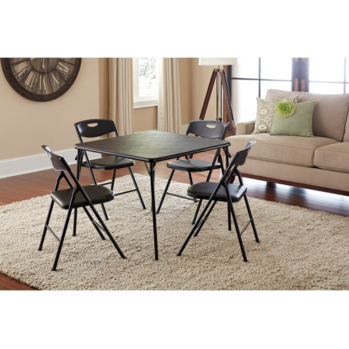 folding table and chairs set cosco 5-piece folding table and chair set, multiple colors jwpmlnh