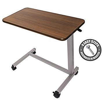 folding table with wheels medical adjustable overbed table with wheels (hospital and home use) cxwdizr