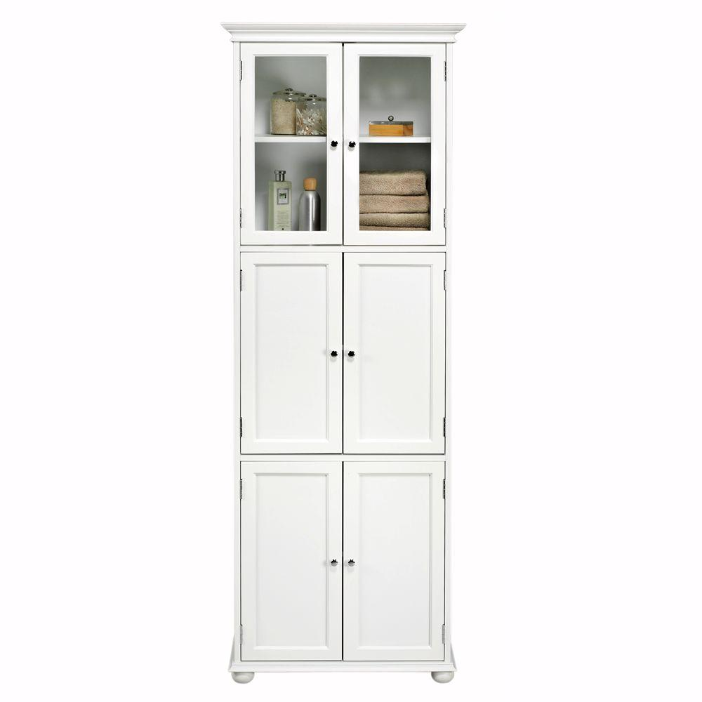 freestanding bathroom storage hampton harbor 25 in. w x 14 in. d x 72 in. h dddpltk