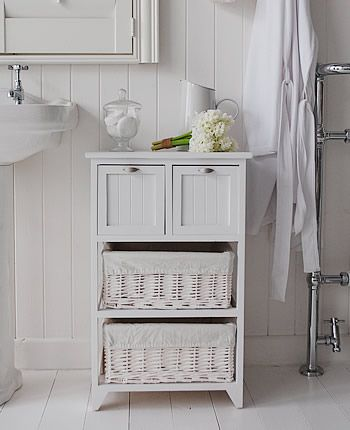 freestanding bathroom storage home inspiration: organizing with baskets mzvxbpj
