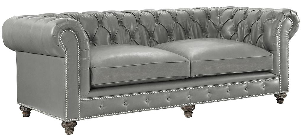 grey leather chesterfield sofa kewdcqo