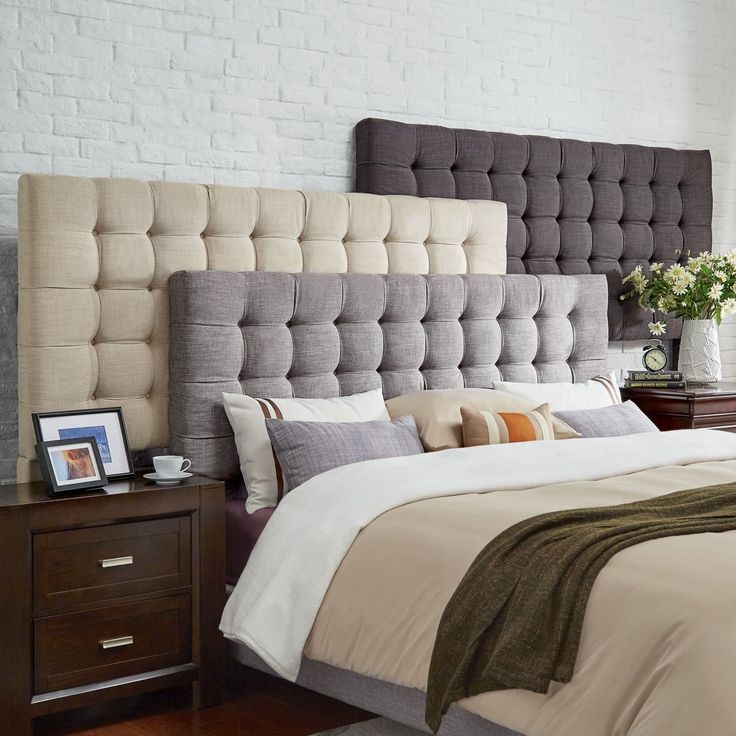 headboards for king size beds briella button tufted linen upholstered full size headboard by mid-century  living (grey ogjxajm