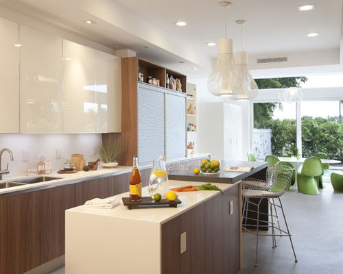 high end kitchen cabinets modern eat-in kitchen idea in miami with flat-panel cabinets and white  cabinets wusrbea