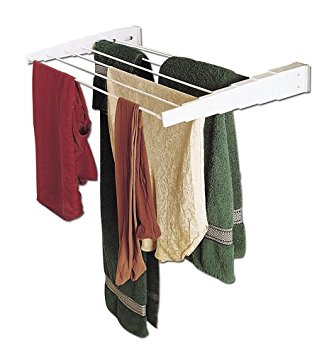 household essentials wall-mount telescoping indoor clothes drying rack htexrgw