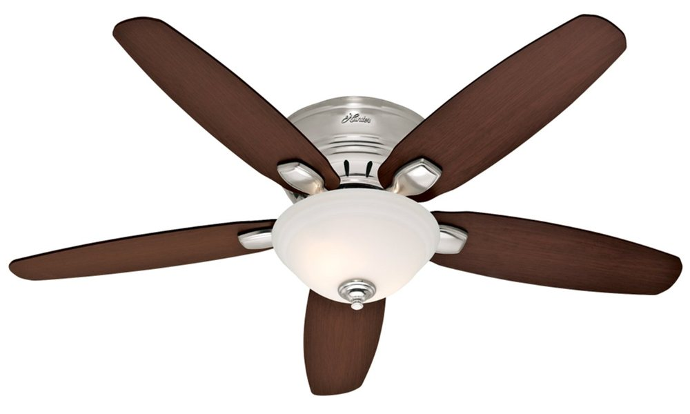 hunter ceiling fans with lights contemporary brushed nickel finish fan with five reversible blades (view  larger). oaeqqrg