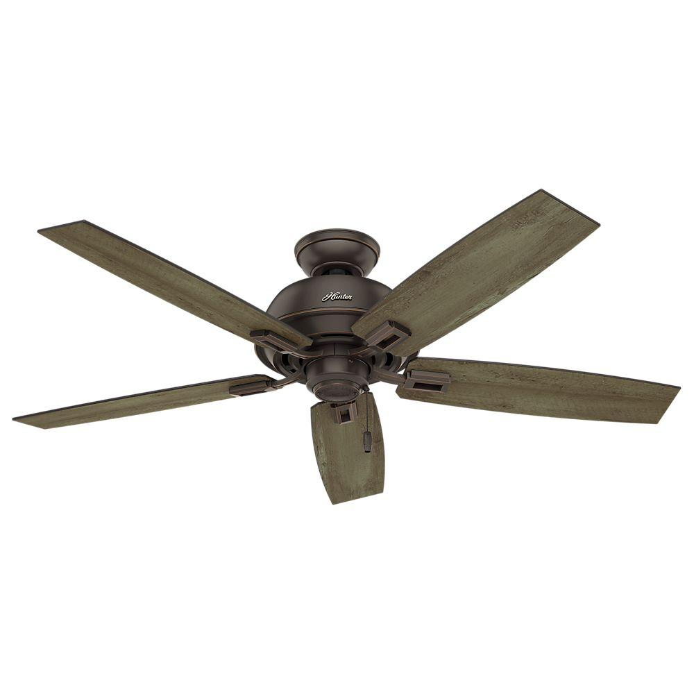 hunter outdoor ceiling fans hunter donegan 52 in. indoor/outdoor onyx bengal bronze ceiling fan cwgbbsr