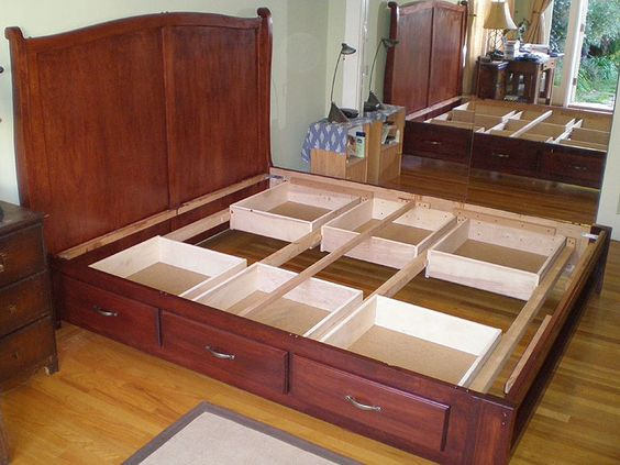 king size bed frame with drawers diy king size beds with storage under | donaldo osorio - woodworker - tkcnbwu