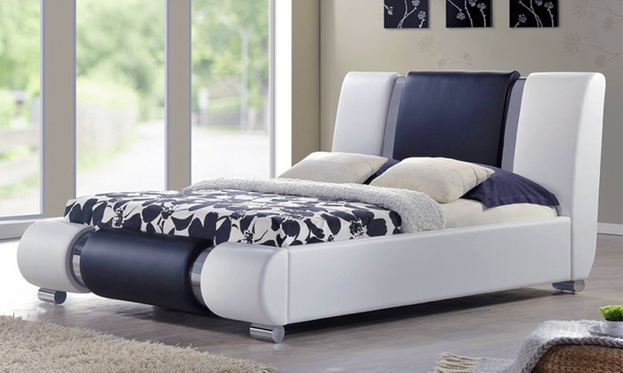 king size bed with mattress kingsize bed groupon goods aivemnf