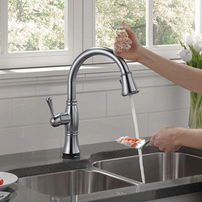 kitchen sinks and faucets touchless/touch on lympphe