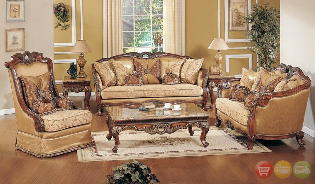 luxury living room furniture exposed wood luxury traditional sofa u0026 loveseat formal living room furniture  set judcewb