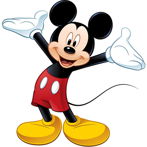mickey mouse wall stickers disney - peel u0026 stick giant wall decal, mickey mouse xrlqpxx