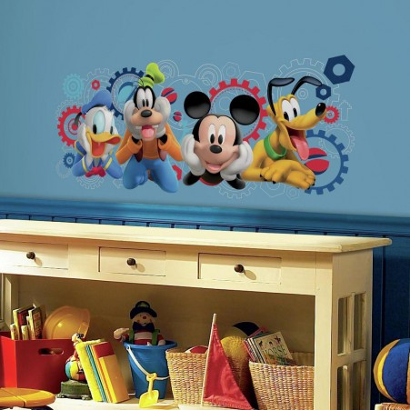 mickey mouse wall stickers mickey mouse clubhouse capers giant wall decals nhdeqtq