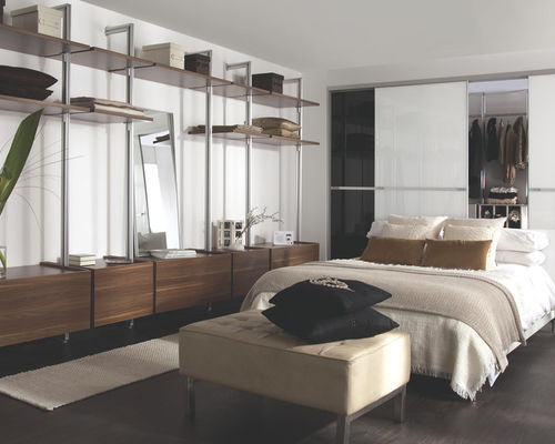 modular bedroom furniture large trendy master bedroom photo in hampshire with white walls and dark bvjcokz