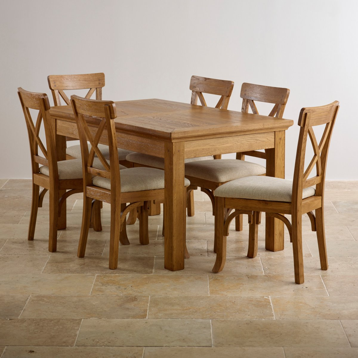 oak dining table and chairs custom delivery taunton rustic solid brushed oak dining set - 4ft 7 rseozlf