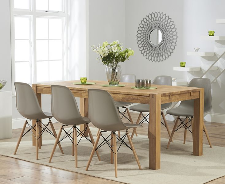 oak dining table and chairs verona 150cm solid oak extending dining table with charles eames style dsw ofbphcm