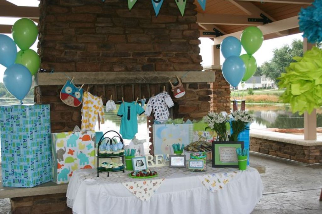 Plan your outdoor baby shower decorations properly
