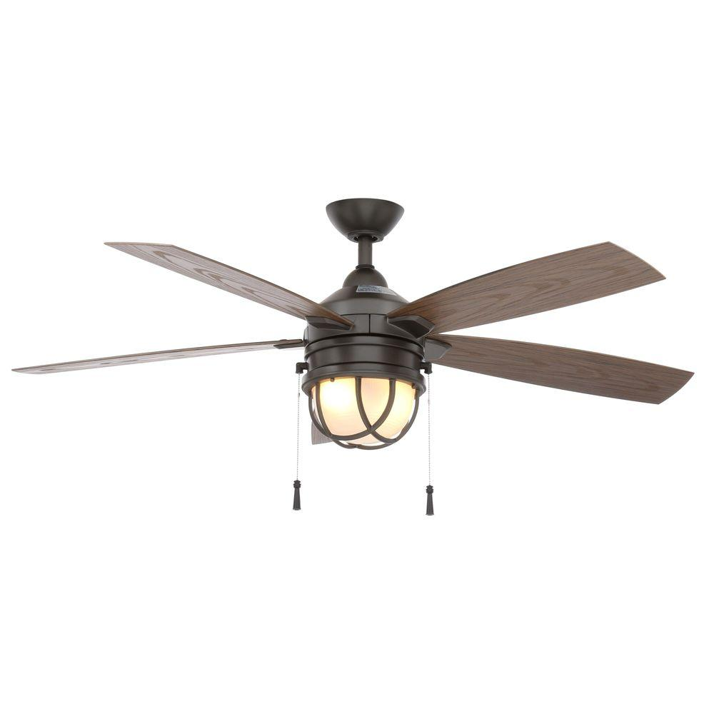 outdoor ceiling fans with lights indoor/outdoor natural iron ceiling fan with light kit wunsjmq